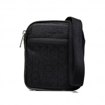 Borsa Messenger Power mini flat Calvin Klein nero